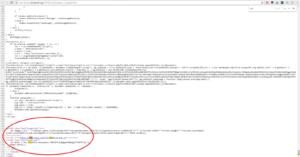Код сайта зараженного js скриптом майнинга