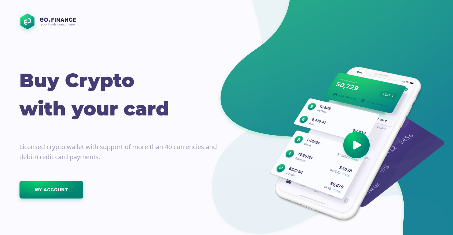Обзор кошелька EO.Finance: приложения для покупки криптовалюты