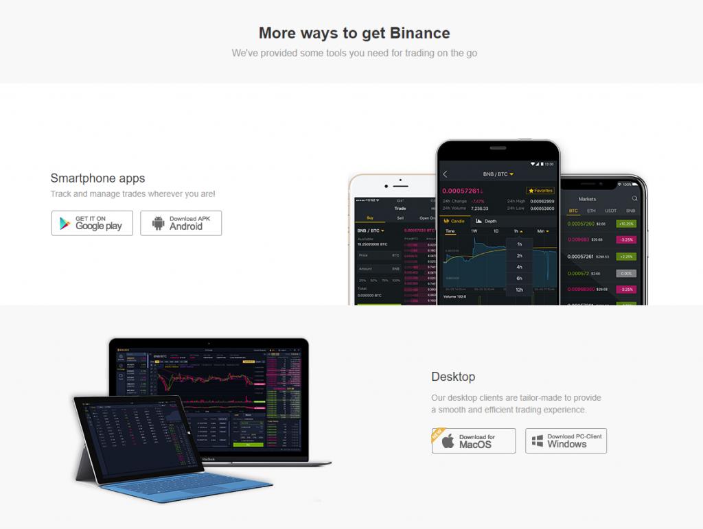 Приложения Binance