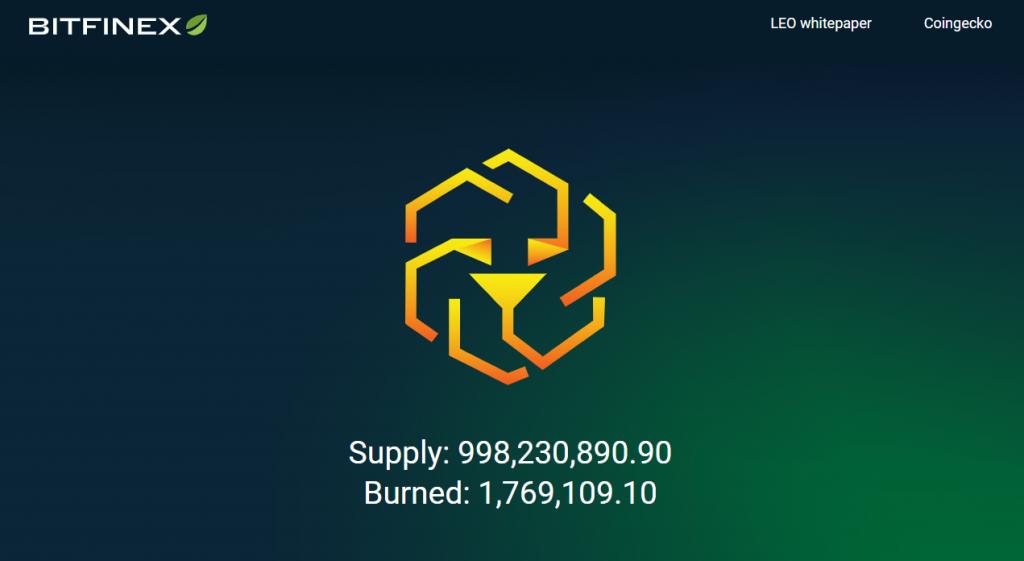Токен LEO на Bitfinex