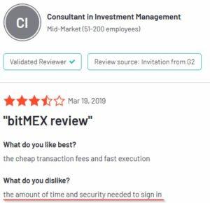 Отзыв о проблемах со входом на биржу BitMEX.