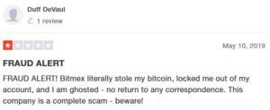 Негативный отзыв о мошенничестве на BitMEX.